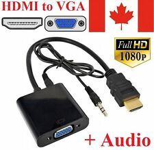 HDMI Male to VGA Audio Adapter Converter Cable for PC TV Monitor 1080P Projector