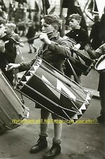 German Boys Youth Party Marching PHOTO World War II, Boys Band Drummers