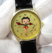 "BETTY BOOP, Moulded Hands, ""Rare"", Black Band,LADIES/UNISEX WATCH, 1688,L@@K!"