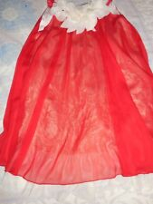 nwot Kid's Dream red chiffon baby doll dress girl 11 12 free ship USA