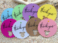 10 Kraft White Gift Favour Tags Baby Shower Party Bomboniere Thank you Gift Tags