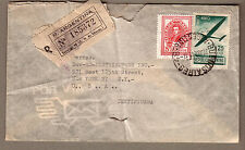 1947 registered cover Argentina Buenos Aires Sucursal to New York