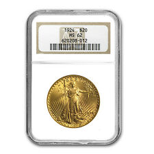 $20 Saint-Gaudens Gold Double Eagle Coin - MS-62 NGC