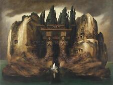 PAINTING FANTASY LANDSCAPE HOMAGE BOCKLIN DIEFENBACH ISLE PRINT POSTER LF467