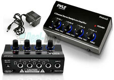 Pyle 4-Channel Headphones Signal Splitter Amp Distribution Sharing Amplifier Box