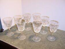 """8 Vintage Waterford LISMORE CLARET GOBLET Stemmed Wine GLASSES 5 7/8""""  A"""