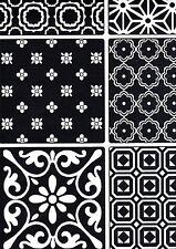 Black & White Patchwork Tile Effect Wallpaper