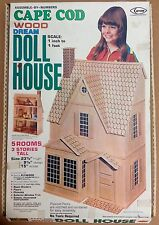 Vintage Arrow Cape Code 5-room 3 story Wood Doll House Kit 695 New open box