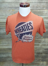 Wheaties Breakfast of Champions M Baseball Player T-Shirt Men's Orange