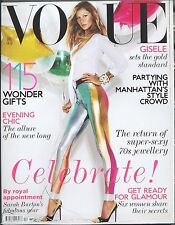 Vogue UK Fashion Magazine December 2011 - Gisele Bundchen - Mario Testino