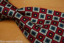 Brooks Brothers Black Label Silk Neck Tie Red Green White Yellow Floral Checker