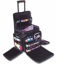 Rolling Tote Organizer Bag On Wheels Crafts Storage Luggage Travel Scrapbooking