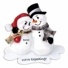 North Pole Family We're Expecting Personalized Christmas Tree Ornament