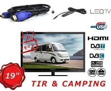 MOBILE TV 19 INCH FOR TRUCKS VANS, CAMPING ,USB, DVB-T MPEG4, FREEVIEW, DVB-C