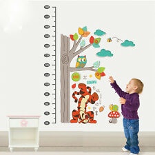 Winnie The Pooh Tiger Removable Wall Stickers Height Chart Art Mural Owl Cartoon