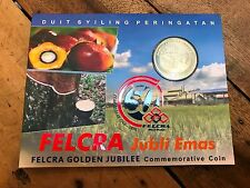 2016 NEW Malaysia 50th Felcra Golden Jubilee Commemorative Nordic Gold Coin Card