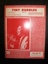 Tiny Bubbles Hua Li'i Sheet Music Vintage 1966 Don Ho Leon Pomber Voice Nice (O)