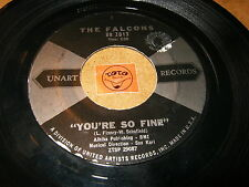THE FALCONS - YOU'RE SO FINE - GODDESS OF ANGELS  / LISTEN - DOO WOP POPCORN