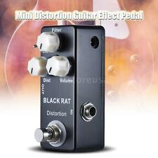 BLACK RAT Distortion Guitar Effect Pedal w/True Bypass Zinc-aluminium Alloy S8Y3