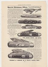 VINTAGE MAGAZINE AD #2-180 - early 1900s MAHER & GROSH pocket knives
