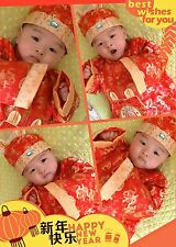 Chinese New Year 2016 Baby Boy Girl Shirt Newborn Chinese Top Hat Outfit Set