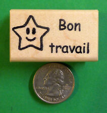 Bon Travail - French Teacher's Rubber Stamp