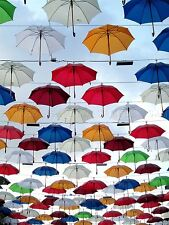 PHOTO ARTISTIC INSTALLATION UMBRELLA DISPLAY BROLLY COLOUR POSTER PRINT BMP10770