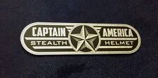 CUSTOM CAPTAIN AMERICA STEALTH HELMET DISPLAY PLACARD PROP WINTER SOLDIER