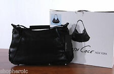 NWT Kenneth Cole Bolt It Out Hobo Textured Leather Black Hand Bag HK61580MT NEW