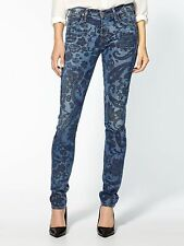COH Citizens of Humanity Avedon Low Rise Skinny Jean Paisley Print Blue, Size 29