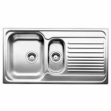 """Blanco TIPO 1 1/4"""" LEFT HAND BOWL KITCHEN SINK Stainless Inset with Drainer 60cm"""