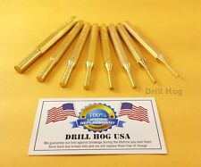 Brass Punch Set Drift Pin Punch Roll Spring AR 15 Gunsmith Gun Cleaning USA MADE
