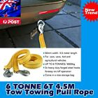 6000kg 6T 4.5M Tow Towing Pull Rope Strap Heavy Duty Road Recovery Car Van 4x4