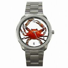 King Crab Alaska Boat Fishing Deadliest Catch Stainless Steel Sport Watch New!