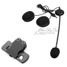 Auricular Micrófono+Clip Para BT-S1 Bluetooth 1000m Itercom Casco Auriculares