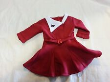 AMERICAN GIRL DOLL Kit Retired Christmas Outfit Dress w/Scottie Dog Pin ONLY
