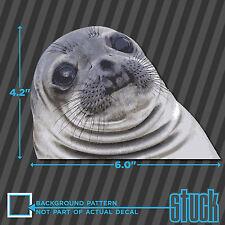 "Awkward Seal Face Meme - 6.0""x4.2"" - printed vinyl decal sticker weatherproof"