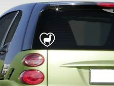 Heart alpaca *F327* sticker decal show cashmere clothing sweater breeding