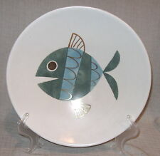"Metlox Mid Century Tropicana Fish 11 1/2"" Footed Bowl"