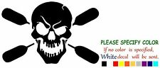 """Skull with oars paddle Funny Vinyl Decal Sticker Car Window laptop tablet 12"""""""