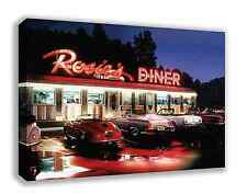 "ROSIES AMERICAN DINER ROSIE'S CANVAS WALL ART 30""X18"" (LARGE)"