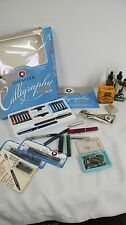 SHEAFFER CALLIGRAPHY KIT PENS CONGRESS NIBS KOH I NOR PELIKAN INK DRAWING LOT