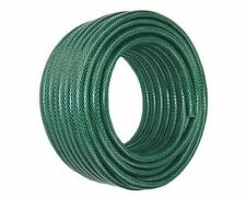 50M GARDEN HOSE PIPE REEL TOUGH 50 METRE OUTDOOR HOSEPIPE GREEN NEW