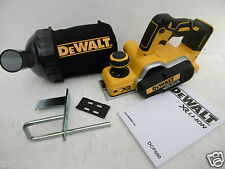 DEWALT DCP580 XR 18V CORDLESS PLANER BARE UNIT + DWV9390 DUST COLLECTION BAG