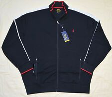$135 New 2XLT 2XL TALL POLO RALPH LAUREN Mens track Jacket black 2XT athletic RL