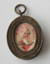 RARE OLD CATHOLIC AGNUS DEI IN A LOCKET