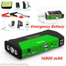 SOS LED Light 16800mA Car Jump Starter Charger Emergency Battery Power Bank 12V