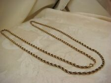 GOLD ROPE CHAIN YELLOW GOLD FILLED 1/20 12K ROPE OPERA LENGTH DANECRAFTVINTAGE
