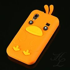 Samsung Galaxy ACE S5830i S5839i Silikon Case Schutz Hülle Chicken Cover Orange
