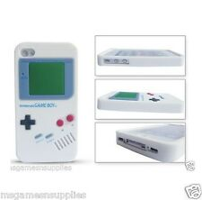White Nintendo Game Boy Gameboy iphone 4 4G 4S Silicone Full Back Case - NEW